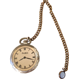 Miniature Watch and Fob for French or German Doll
