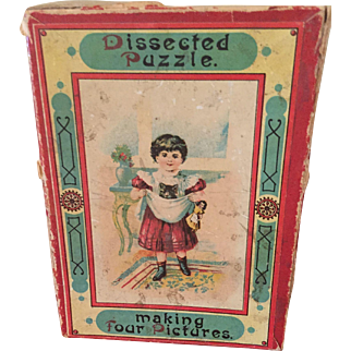 Adorable 19th C Miniature Puzzle Box With