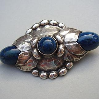 Evald Nielsen Skonvirke Danish 830 Silver Brooch Pin