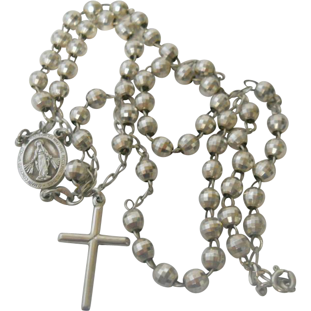 Vintage Rosary Necklace 4