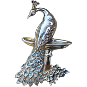 Vintage Theda Peacock Sterling Silver Brooch Pin