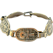 Vintage Silver Ankh Bracelet Egyptian Revival