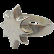 Vintage Star Bethlehem Sterling Celestial Ring Silver Size 8