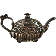 Vintage Sterling Teapot Silver Brooch Pin Figural