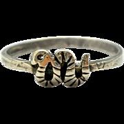 Vintage Sterling Tiny Snake Silver Ring Size 7