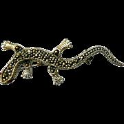 Vintage Sterling Lizard Gecko Brooch Pin Original Box