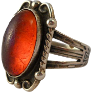 Vintage Dragons Breath Sterling Ring Hand Stamped Size 6