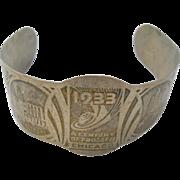Chicago 1933 Worlds Fair Cuff Bracelet Souvenir