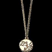 Floral Locket 9K Gold Vintage Pendant