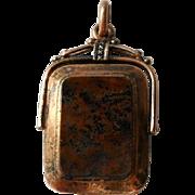 Antique Victorian Swivel Locket Agate Pendant 14K Gold