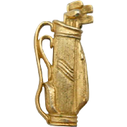 Vintage Gilt Sterling Golf Club Brooch Pin Napier