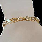 Vintage 14K Gold Bracelet Ribbon Links
