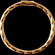 Vintage 14K Gold Single Hoop Earring