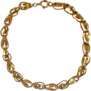 Vintage 14K Gold Bracelet Estate Jewelry