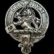 Vintage Deus Juvat Brooch MacDuff Clan Scotland