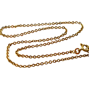 Vintage 18K Gold Chain Necklace Bracelet