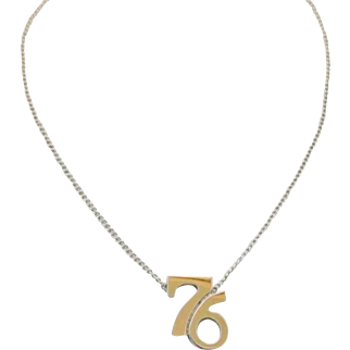 Vintage Cellini 1976 Pendant Necklace Sterling Silver Bicentennial
