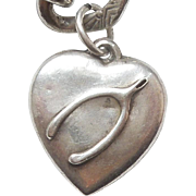 Sterling Silver Puffy Heart Charm - Wishbone - Engraved 'Mama'