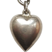 Extra Chubby Sterling Silver Puffy Heart Charm