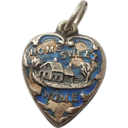 Sterling Silver Puffy Heart Charm - Home Sweet Home - Engraved 'Jack'