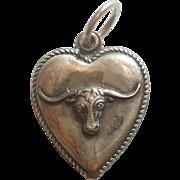 Sterling Silver Puffy Heart Charm – Longhorn Steer