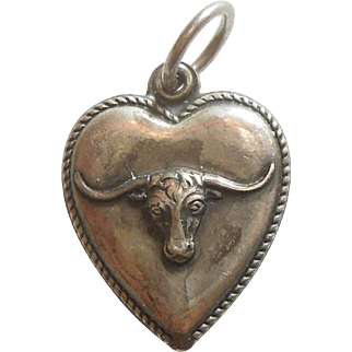 Sterling Silver Puffy Heart Charm – Longhorn Steer
