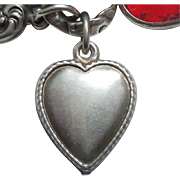 Sterling Silver Puffy Heart – Finely Beaded Edge