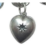 Smaller Extra Chubby Sterling Silver Puffy Heart Charm