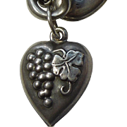 Sterling Silver Puffy Heart Charm – Bunch of Grapes