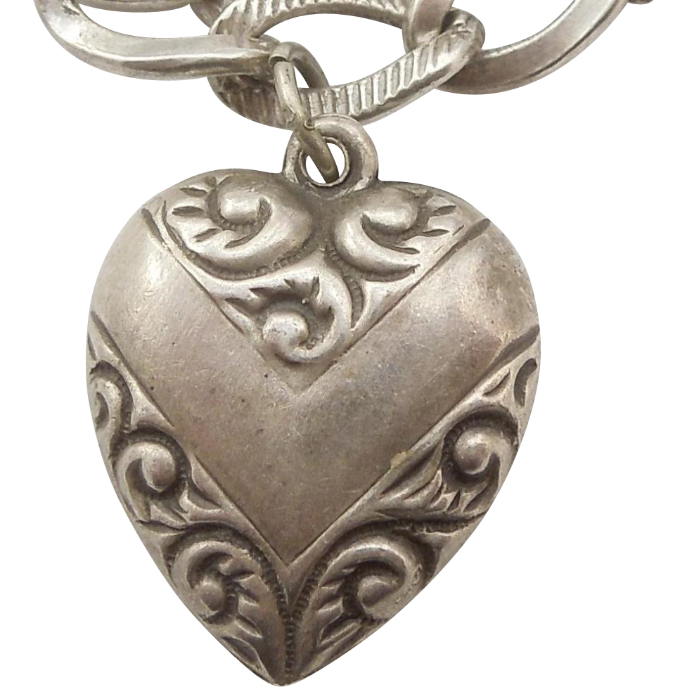 sterling silver charm chevron with paisley