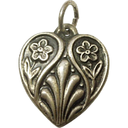 Sterling Silver Puffy Heart Charm -  Engraved 'Alice'