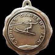 Bates & Klinke - Cypress Gardens Florida Waterskier Sterling Silver Travel Souvenir Charm