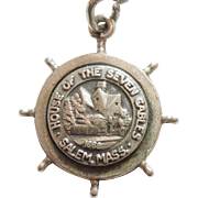 Bates & Klinke - The House of Seven Gables - Salem, Massachusetts - Sterling Silver Travel Souvenir Charm