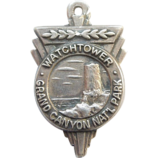 Bates & Klinke 'Watchtower' Grand Canyon National Park Sterling Silver Travel Souvenir Charm