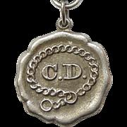 AKC Companion Dog CD Sterling Silver Award Prize Charm - Clipper '77