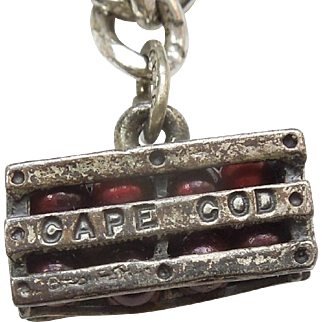 Sterling Silver Cape Cod Cranberry Crate Charm by Beau