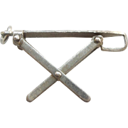 Sterling Silver Folding Ironing Board Charm (Moves / Opens / Mechanical)