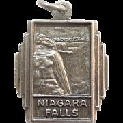 Bates & Klinke Niagara Falls NY State and Canada Sterling Silver Travel Souvenir Charm