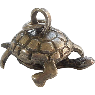 Vintage Moving Turtle / Tortoise Charm