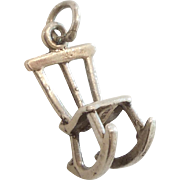 3D Sterling Silver Rocking Chair Charm - Perfect for a Baby Bracelet