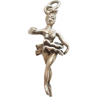 Vintage 3D Ballerina Charm – Tiny Ballet Dancer