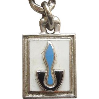 Sterling Silver and Enamel Eternal Flame Chalice Charm - CTO O.C. Tanner