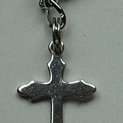 Small Vintage Sterling Silver Cross Charm