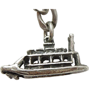 Vintage Riverboat Charm with Moving Paddle Wheel