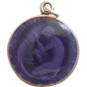 Aquarius Sterling Silver and Enamel Zodiac Charm or Pendant - Charles Thomae