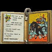Vintage Ferdinand the Bull Walt Disney Productions 1938 Enamel Book Charm