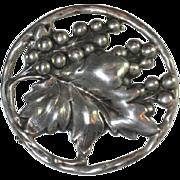 Walter Lampl Sterling Silver Pin - Fox Grapes