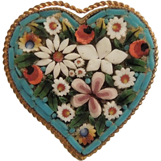Witch's Heart Floral Mosaic Pin