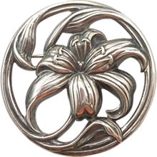 Sterling Silver Lily Pin - Felch and Company - Danecraft