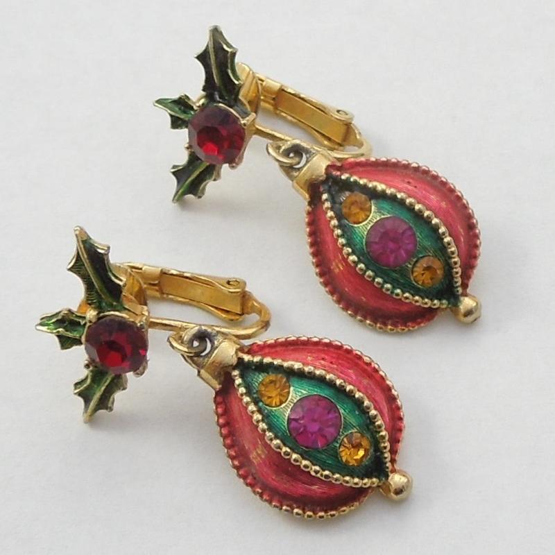 Vintage Christmas Earrings Deflortaion Porn
